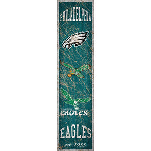 Philadelphia Eagles Heritage Banner Vertical 6x24