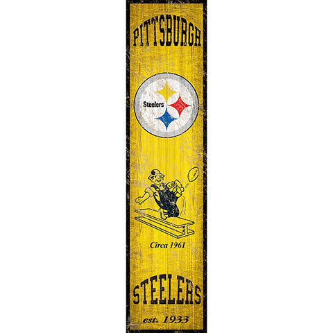 Pittsburgh Steelers Heritage Banner Vertical 6x24