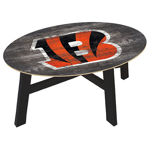 Cincinnati Bengals Distressed Wood Coffee Table