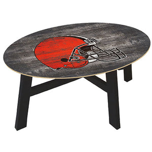 Cleveland Browns Distressed Wood Coffee Table