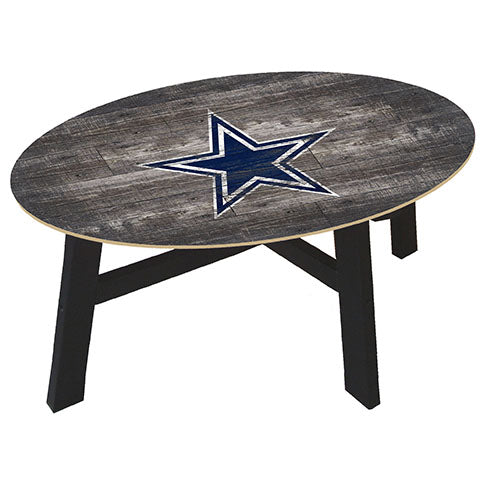 Dallas Cowboys Distressed Wood Coffee Table