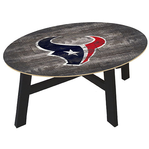 Houston Texans Distressed Wood Coffee Table