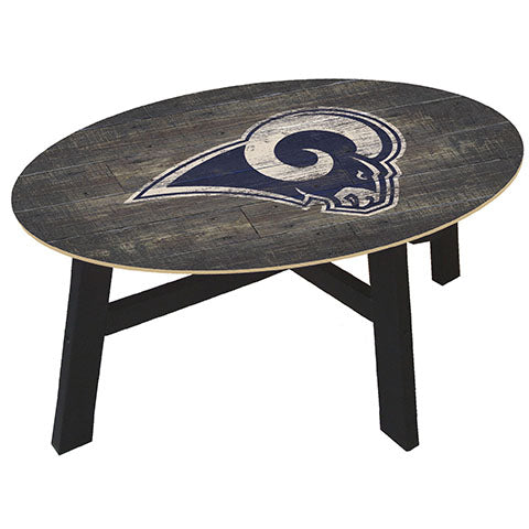 Los Angeles Rams Distressed Wood Coffee Table