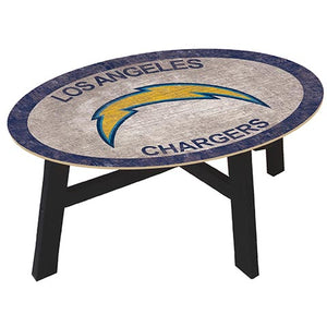 Los Angeles Chargers Coffee table with team color