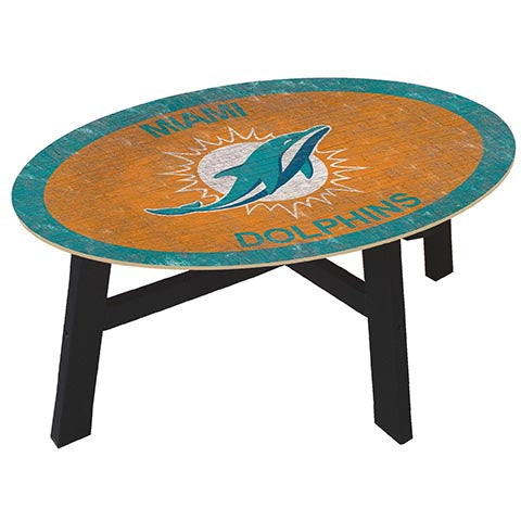 Miami Dolphins Coffee table with team color
