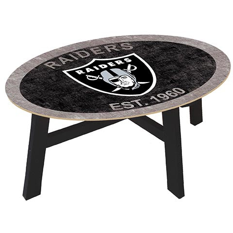 Oakland Raiders Coffee table with team color