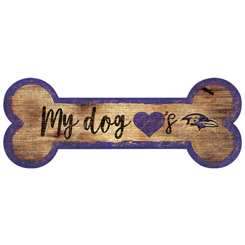Baltimore Ravens Dog Bone Sign