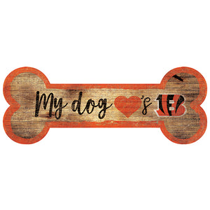 Cincinnati Bengals Dog Bone Sign