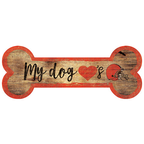 Cleveland Browns Dog Bone Sign