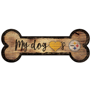 Pittsburgh Steelers Dog Bone Sign