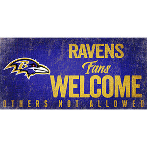 Baltimore Ravens Fans Welcome Sign