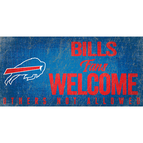 Buffalo Bills Fans Welcome Sign