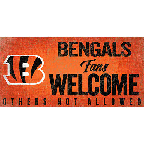 Cincinnati Bengals Fans Welcome Sign