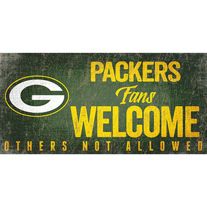 Green Bay Packers Fans Welcome Sign