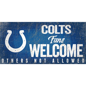 Indianapolis Colts Fans Welcome Sign