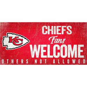 Kansas City Chiefs Fans Welcome Sign
