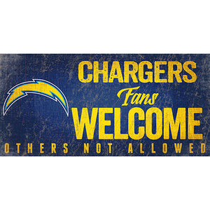 Los Angeles Chargers Fans Welcome Sign