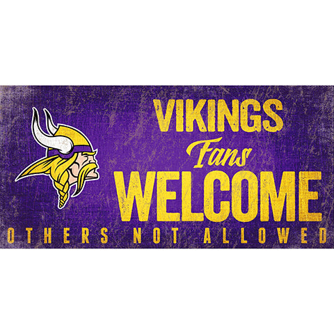 Minnesota Vikings Fans Welcome Sign