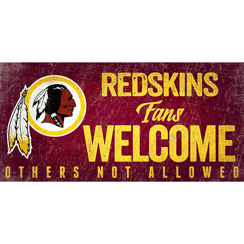 Washington Redskins Fans Welcome Sign