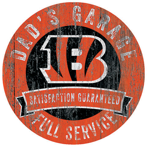 Cincinnati Bengals Dad's Garage Sign