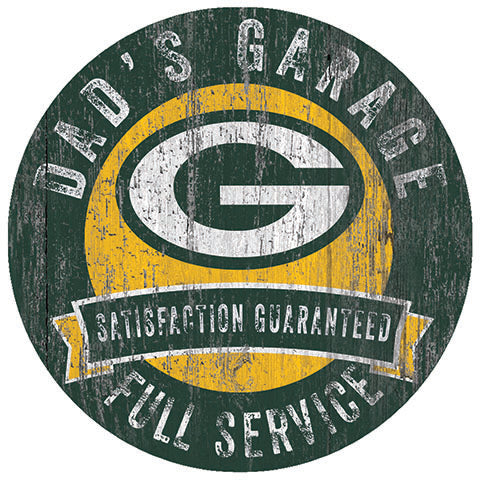Green Bay Packers Dad's Garage Sign