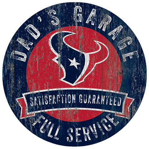 Houston Texans Dad's Garage Sign