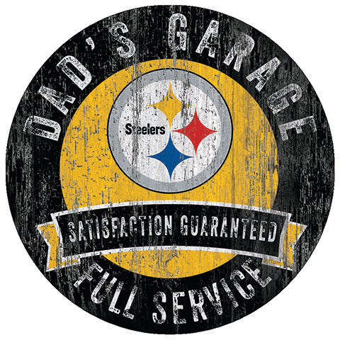 Pittsburgh Steelers Dad's Garage Sign