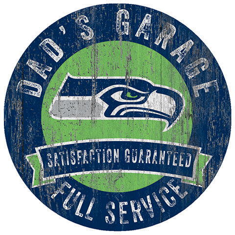 Seattle Seahawks Dad's Garage Sign