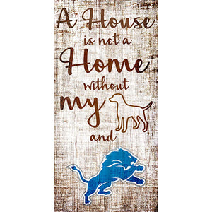 Detroit Lions A House is not a Home Sign