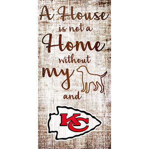 Kansas City Chiefs A House is not a Home Sign