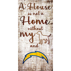 Los Angeles Chargers A House is not a Home Sign