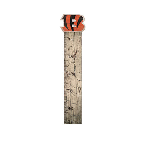 Cincinnati Bengals Growth Chart Sign 6x36