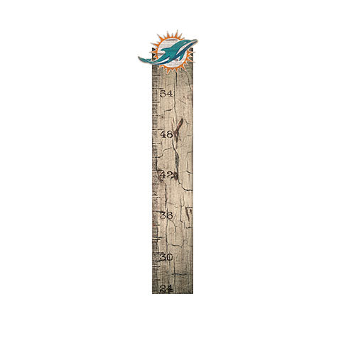 Miami Dolphins Growth Chart Sign 6x36