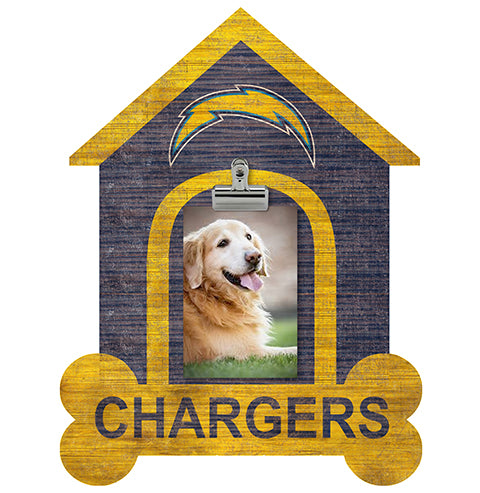 Los Angeles Chargers Dog Bone House Clip Frame