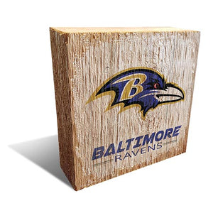 Baltimore Ravens Team Logo Block 6X6