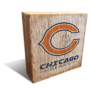 Chicago Bears Team Logo Block 6X6