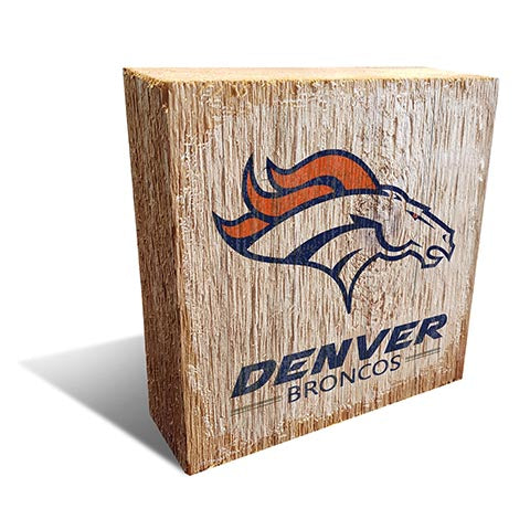 Denver Broncos Team Logo Block 6X6