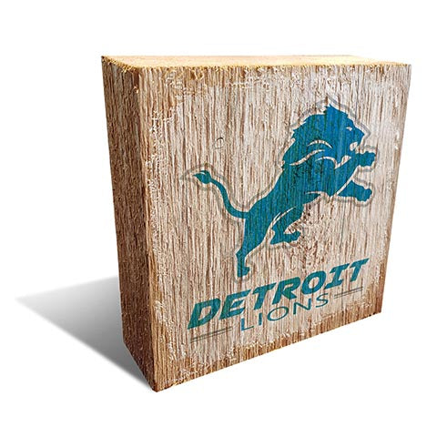 Detroit Lions Team Logo Block 6X6