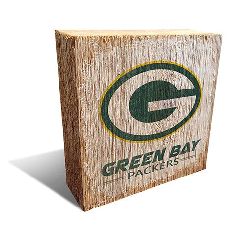 Green Bay Packers Team Logo Block 6X6