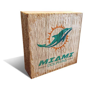Miami Dolphins Team Logo Block 6X6