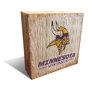 Minnesota Vikings Team Logo Block 6X6