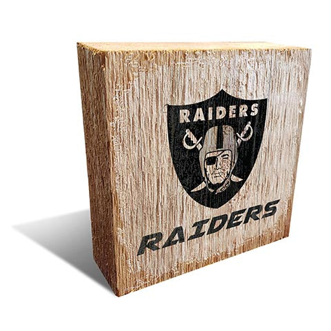 Oakland Raiders Team Logo Block 6X6