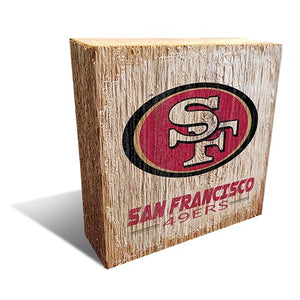 San Francisco 49ers Team Logo Block 6X6