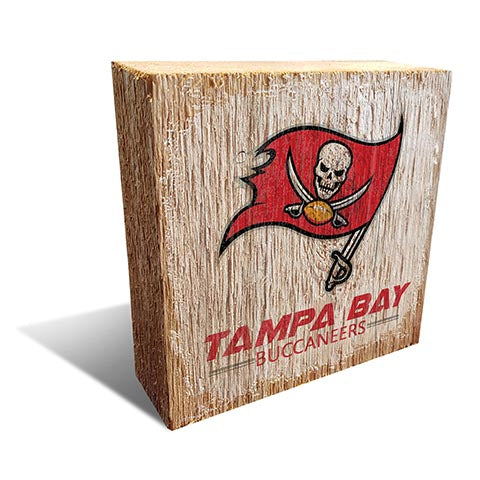 Tampa Bay Buccaneers Team Logo Block 6X6
