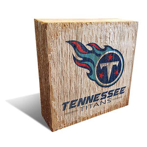 Tennessee Titans Team Logo Block 6X6