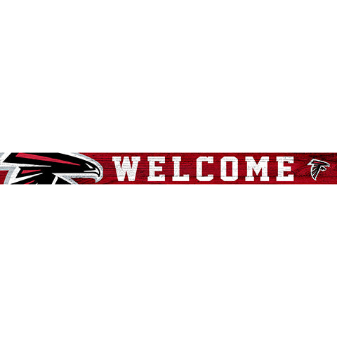 Atlanta Falcons 16in. Welcome Strip