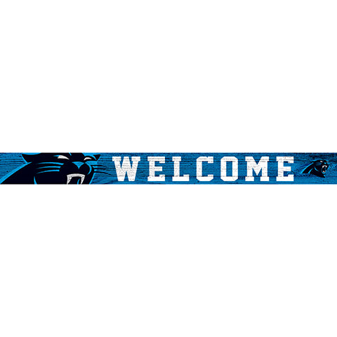 Carolina Panthers 16in. Welcome Strip