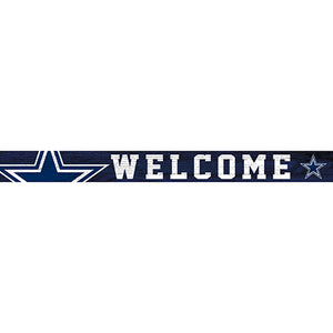 Dallas Cowboys 16in. Welcome Strip
