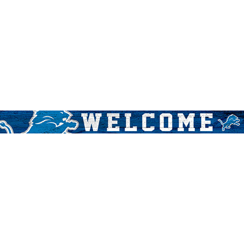 Detroit Lions 16in. Welcome Strip