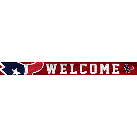 Houston Texans 16in. Welcome Strip